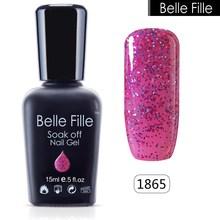 Buy BELLE FELLE 15ml Bling Glitter UV Gel Polish Cosmetics Makeup esmaltes permanentes de uv Manicure Easy home DIY Nail art varnish for $2.75 in AliExpress store
