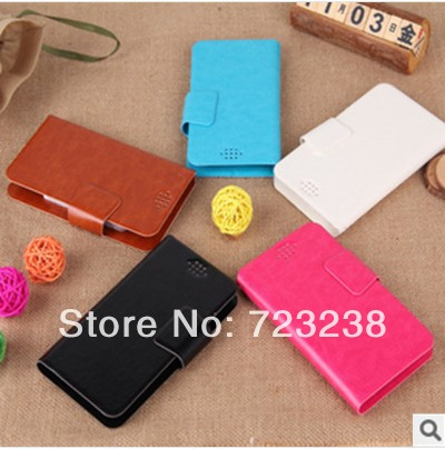 for Ultra Slim 809T mobile phone case leather 5.0 wallet New Arrival Item with card holder Free shipping Hot Sale Slide Newest(China (Mainland))