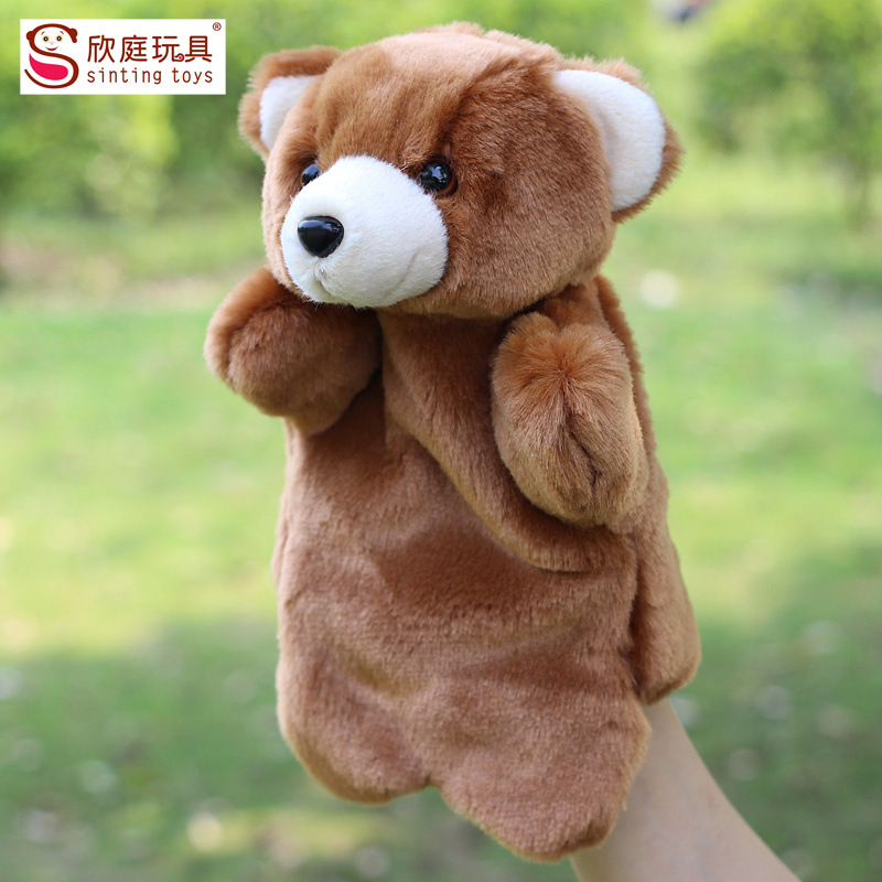 Children Stuffed Toy Teddy Bear Plush small animal hand puppet kids doll plush baby PUPPETS toys Christmas birthday gift<br><br>Aliexpress