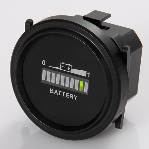 Free shipping Battery Level Indicator Voltmeter for Lawn Care or Floor Care Equipment(China (Mainland))