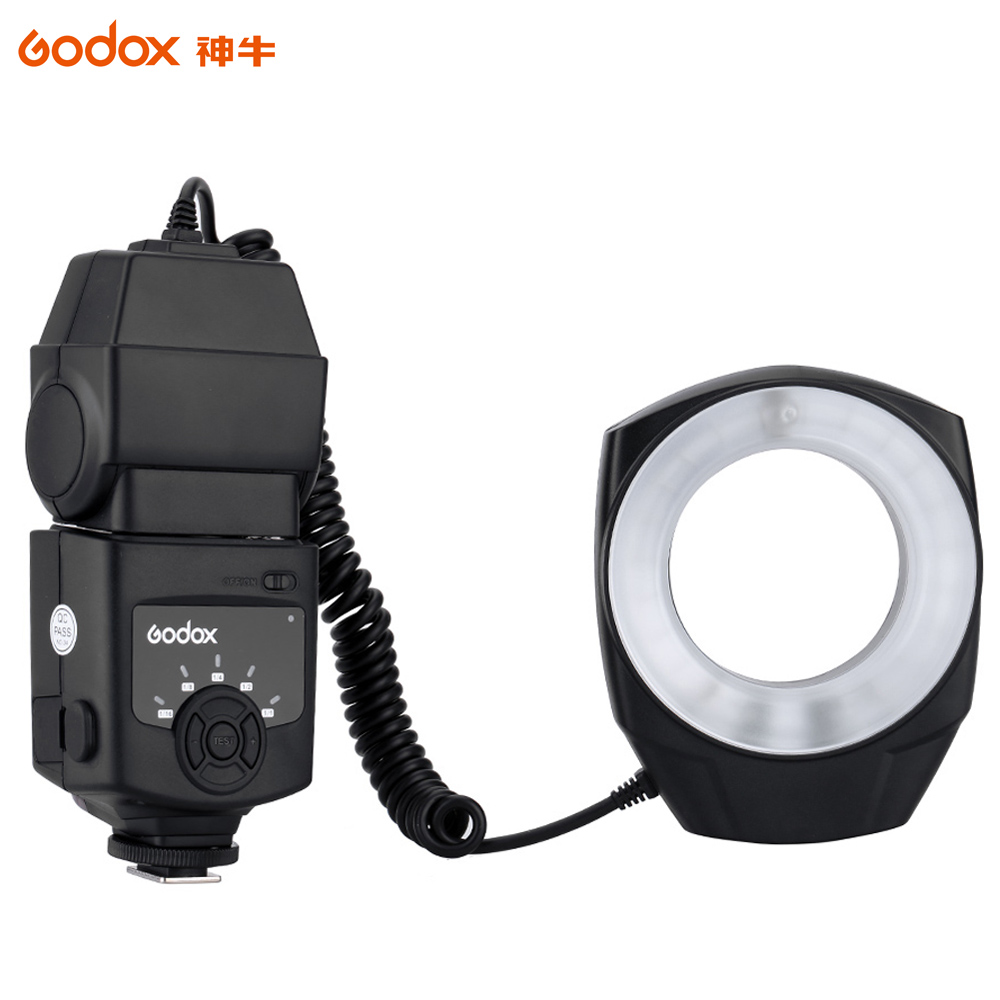 Godox ML-150 Macro Ring Flash Light Guide Number 10 with 6 Lens Adapter Rings for Canon Nikon Pentax Olympus DSLR cameras(China (Mainland))