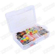 Starter Kit For arduino Resistor /LED / Capacitor / Jumper Wires / Breadboard resistor Kit with Retail Box(China (Mainland))