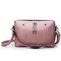 Retro Simple Ladies Crossbody Bag Classy Double Zipper Designer Small Shoulder Bag Trendy Women Solid Color