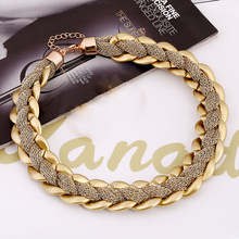 Brand Design Fashion Necklace Charm Chain Statement Bib Necklace Choker Gold Plated Necklaces Jewelry For Women