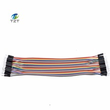New 40PCS in Row Jumper Wire Dupont Cable line 2P-2P 2.54mm Male to Male 20cm For Arduino Breadboard Dropshipping TK0838(China (Mainland))