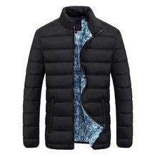 Chaqueta de invierno para hombre 2019 marca Casual de nailon Shell de tela para hombre chaquetas y abrigos gruesos Parka para hombre chaqueta para hombre 4XL ropa(China)
