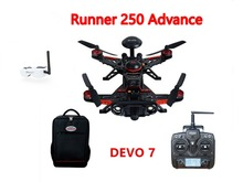 F16183 Walkera Runner 250 Advance GPS System Racer RC Drone Quadcopter RTF with DEVO 7 Transmitter OSD Camera GPS Goggle 2