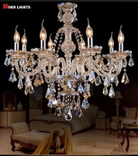 Free Shipping Luxury Modern Crystal Chandelier for living room  bedroom lamp modern chandelier Crystal lighting Top K9 Lamp(China (Mainland))