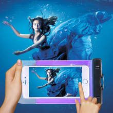 PVC Waterproof Bag GoClever Quantum 2 400 Underwater Pouch Case THL T100s T11 Samsung Galaxy J2 J200F J200 J200G - Shenzhen International Trade Centre store