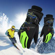 2015 Winter outdoor-sport Berg Skifahren handschuhe windstopper wasserdicht warmen snowboard unter Null ski radhandschuhe männer, frauen(China (Mainland))