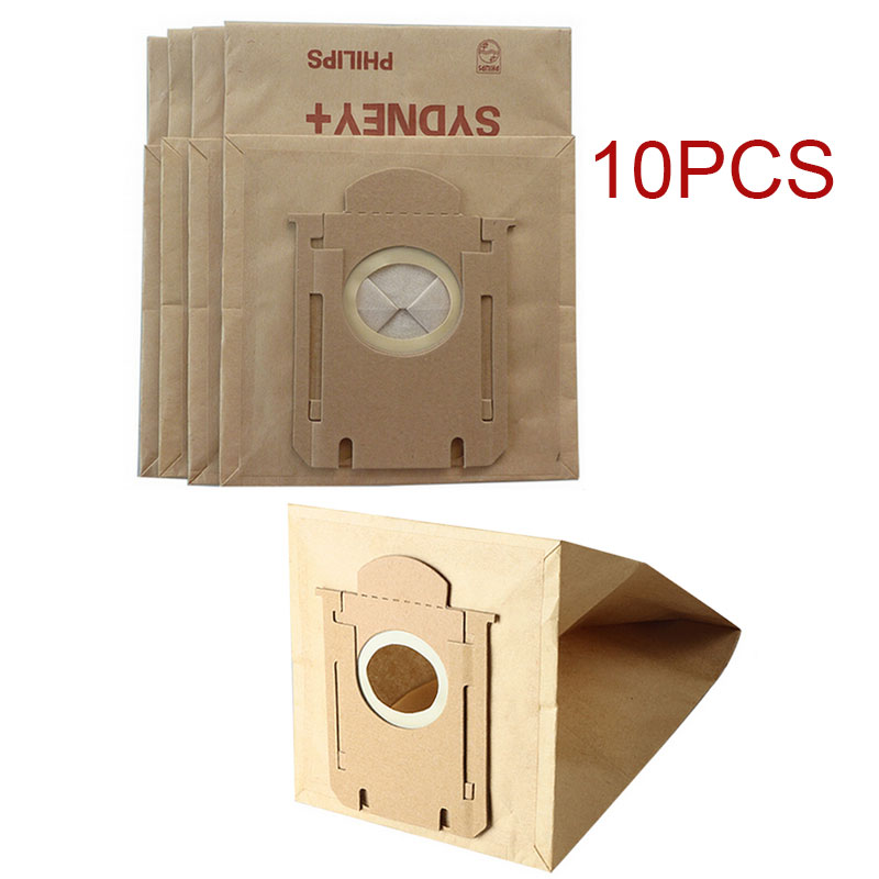 10 pieces/lot Vacuum Cleaner Paper Bags Dust Filter Bag Replacement For Philips S-bag FC8202 FC8204 FC8206 FC8613 FC8220 New(China (Mainland))