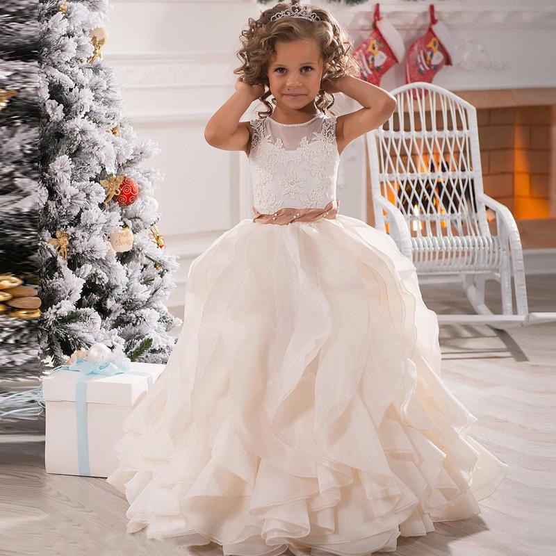 Birthday party christmas dresses girl party dress flower girl dresses