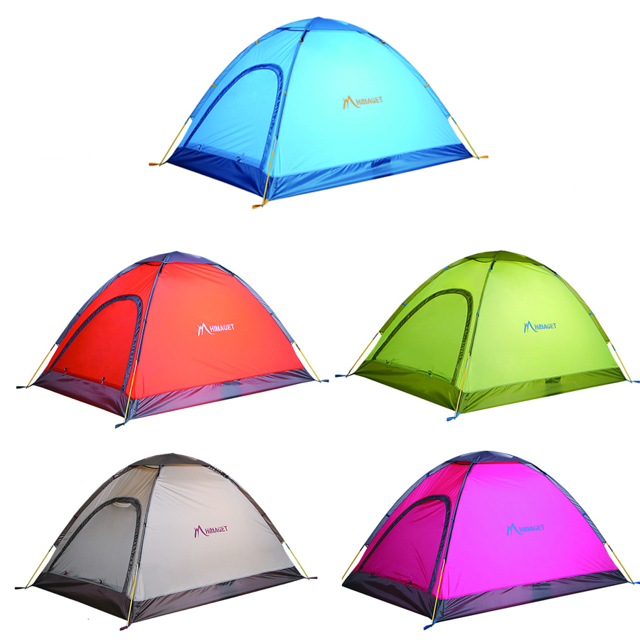 FREE SHIPPING 2 Person Men Berth Max 4 Person Family Dome Tent Ultralight Waterproof For Camping Hiking Fishing Picnic Colorful(China (Mainland))