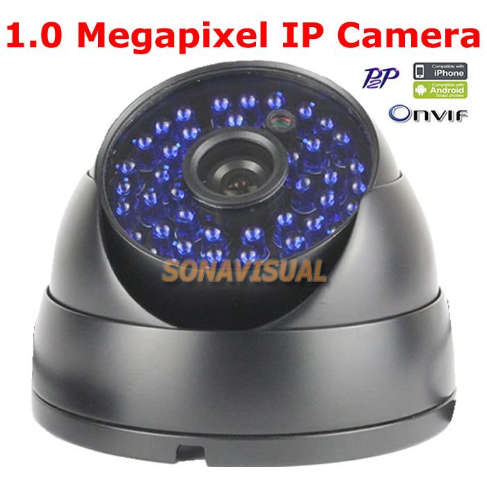 Free Shipping 48Pcs IR leds Night Vision Vandal-proof Metal  Mini Dome IP Camera 720P Support Onvif 1.0Megapixel  Weatherproof<br><br>Aliexpress
