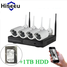 Hiseeu WIFI CCTV System 4CH NVR – 1TB HDD –  Security Surveillance Kit