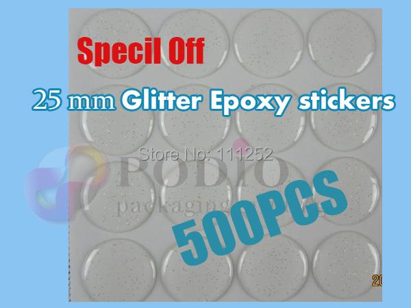500pcs/lot 1' Glitter epoxy sticker,3D epoxy sticker for jewelry & necklace making non- yellowing properties(China (Mainland))