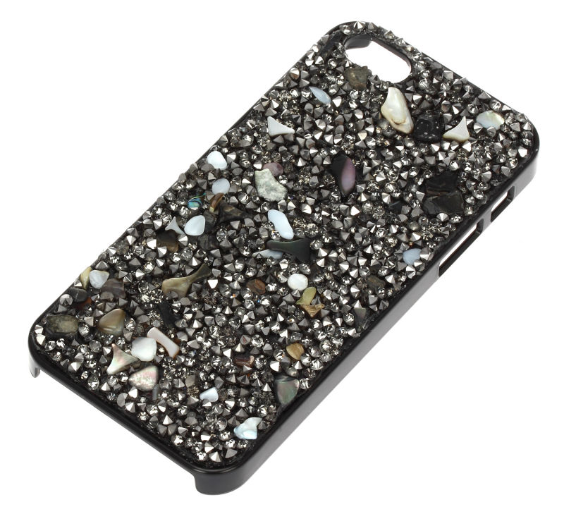 DC1989 Buy 1 Get 1 HD Screen Protective Film Free Natural Material Unisex Phone Case Sea Shells Top Quality Crystals Mobile Case(China (Mainland))
