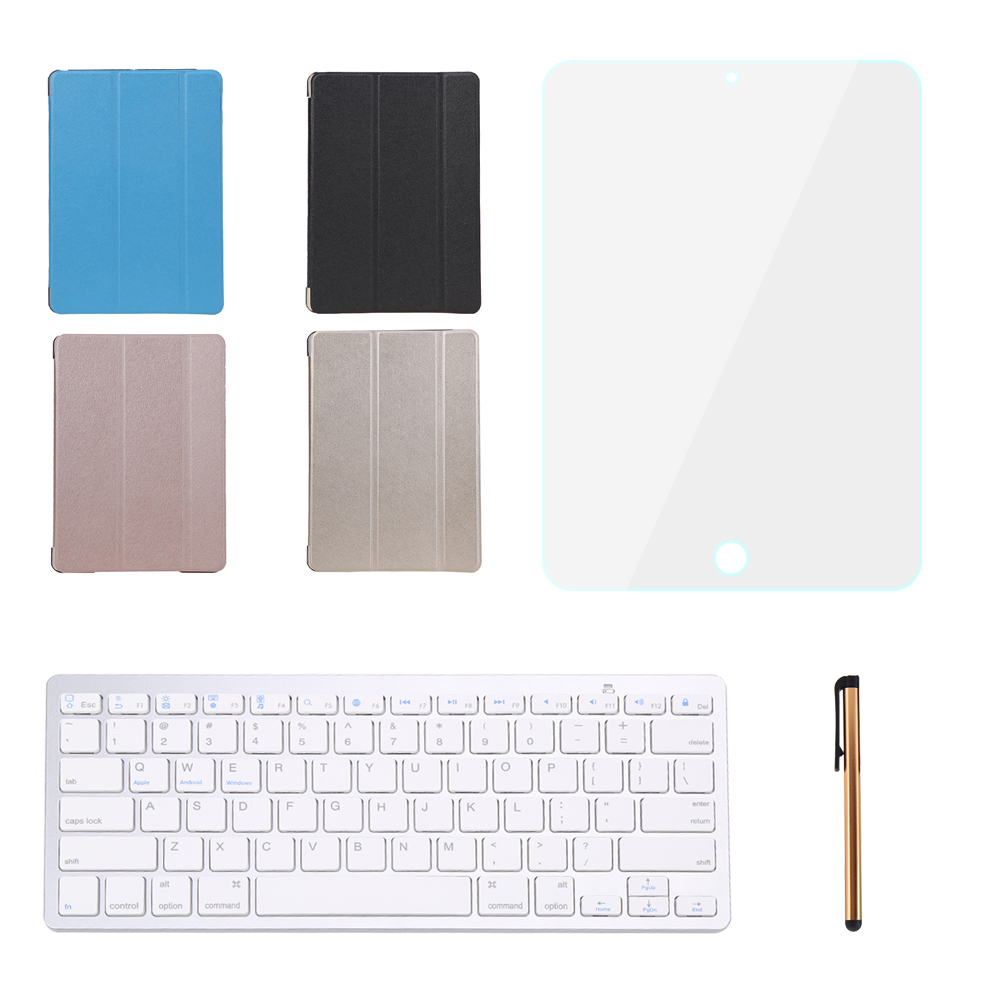 "Cover for iPad Pro 9.7"" Inch Sleep Wake Case PU Leather Flip Stand +Wireless Bluetooth Keyboard+Screen Protector Film+Stylus Pen(China (Mainland))"