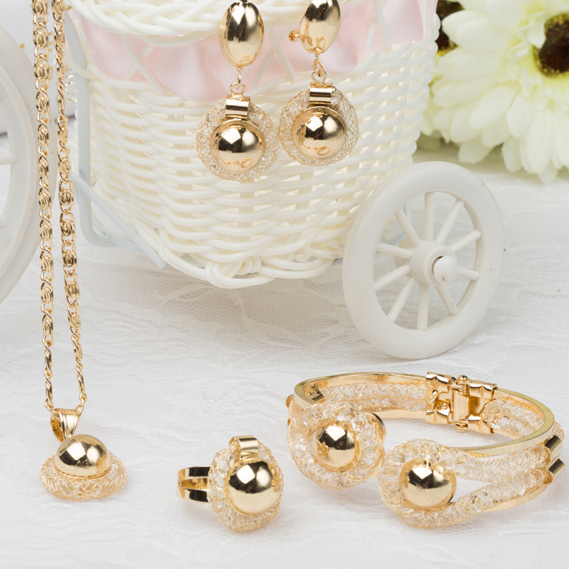 lady gold plated bridal jewelry sets fine jewelry wedding accessories