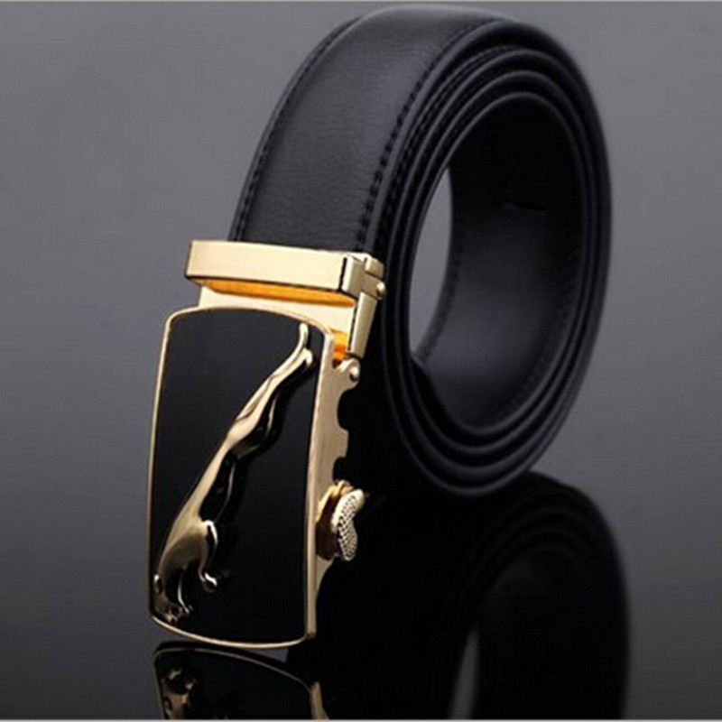 New 2016 Famous Brand Belt Men 100% Cowskin Genuine Luxury Leather Men's Belts for Men,Strap Male Metal Automatic Buckle(China (Mainland))