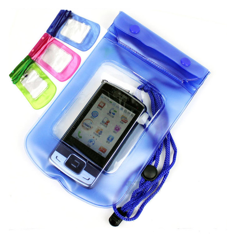 Practical Digital Camera Mobile Phone Waterproof PVC Bag Case Underwater Dry Pouch Sealed Bags Blue Color Drop Shipping PA-0010(China (Mainland))