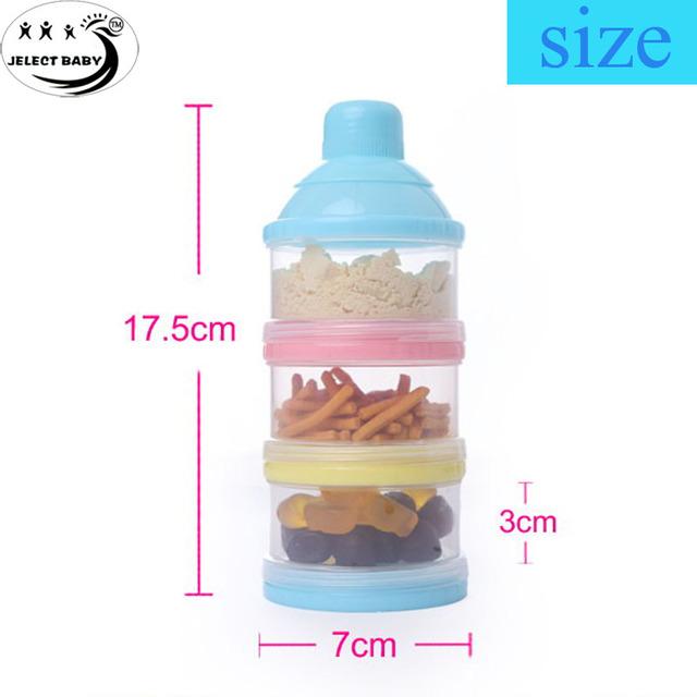 Детские молоко порошок и еды бутылка контейнер 3 слоя сетки коробка продукты диспенсер ...