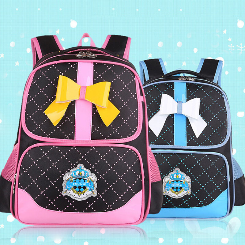 2015 New Fashion Cute Bowknot Princess Girl Backpack Large Capacity Girls Kids School bags (grade 2~5) - Online Store 426955 store