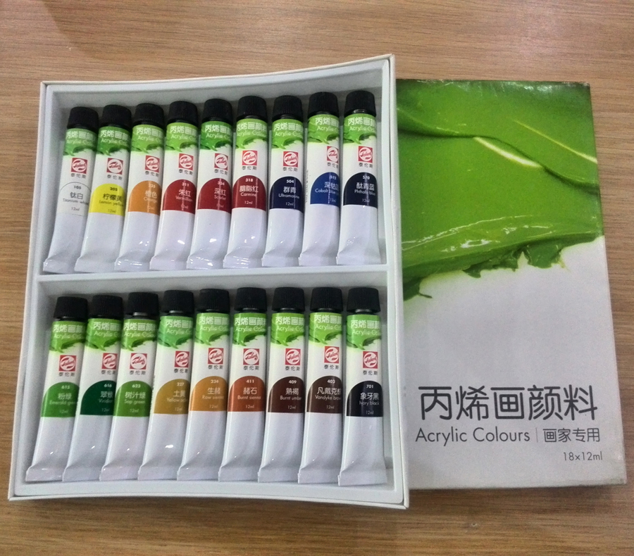 Free shipping 18 color 3D color material model special acrylic pigment DIY model coloring acrylic paints artist painting(China (Mainland))