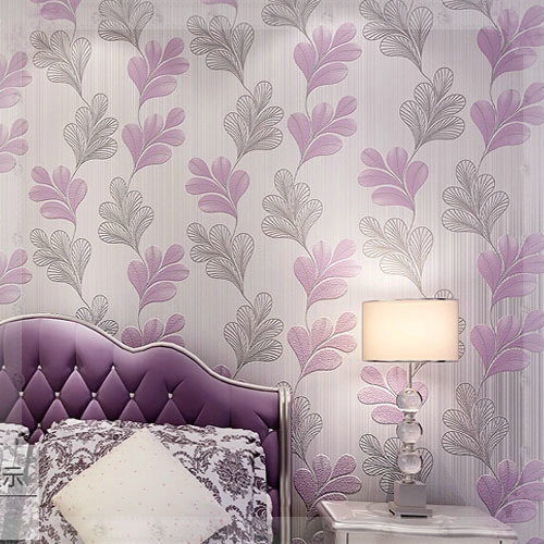 Woven Leaves Wall Decor : Embossed leaf leaves wallpapers roll for living room