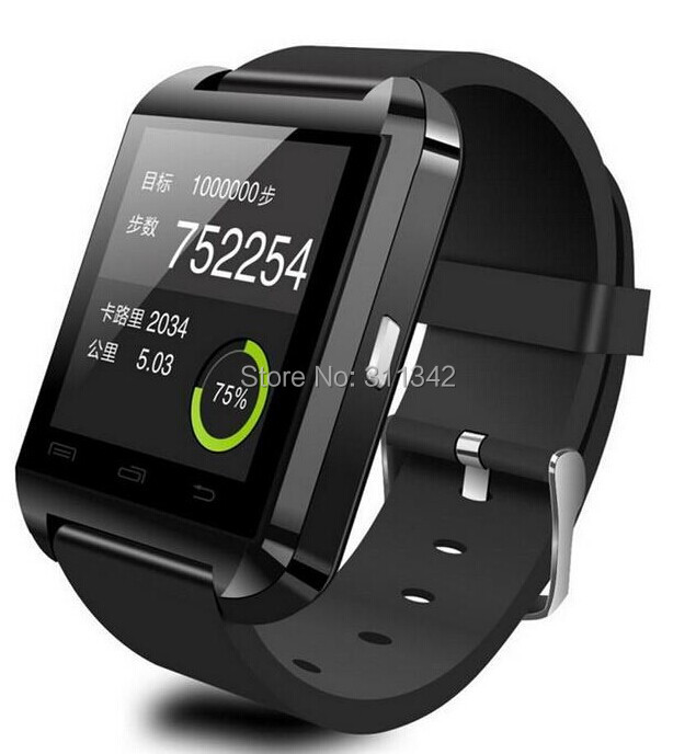 2014 Latest Bluetooth Smart watch WristWatches U8 U Watch for iPhone Samsung HTC Android 4.3 4.4 Phone IOS 7 7.2 7.3 Smartphones