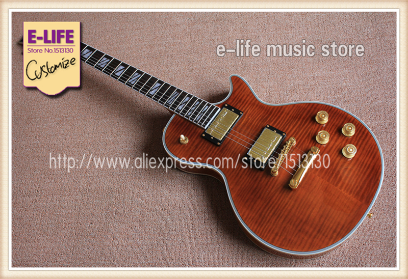 China OEM Guitar Shop LP Electric Guitar Supreme Archtop Mahogany Body Globe Headstock In Stock(China (Mainland))