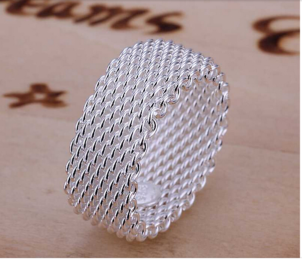 Silver Ring Fine Fashion Net silver plated Rings men&women finger rings Jewelry SMTR040 - Spring fashion Co.,Ltd store