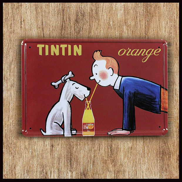 Factory Direct Sale Tintin Orange Painting Tin Sign Bar Pub Garage Home Wall Decor Retro Metal