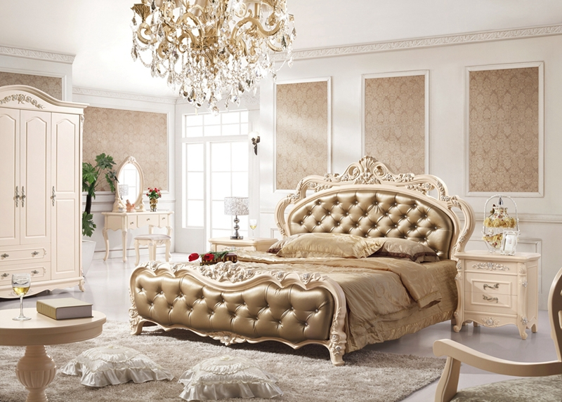 Antique Style French Furniture Elegant Bedroom Sets Py