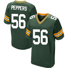 Men's #56 Julius Peppers Elite Green Team Color Football Jersey 100% stitched(China (Mainland))