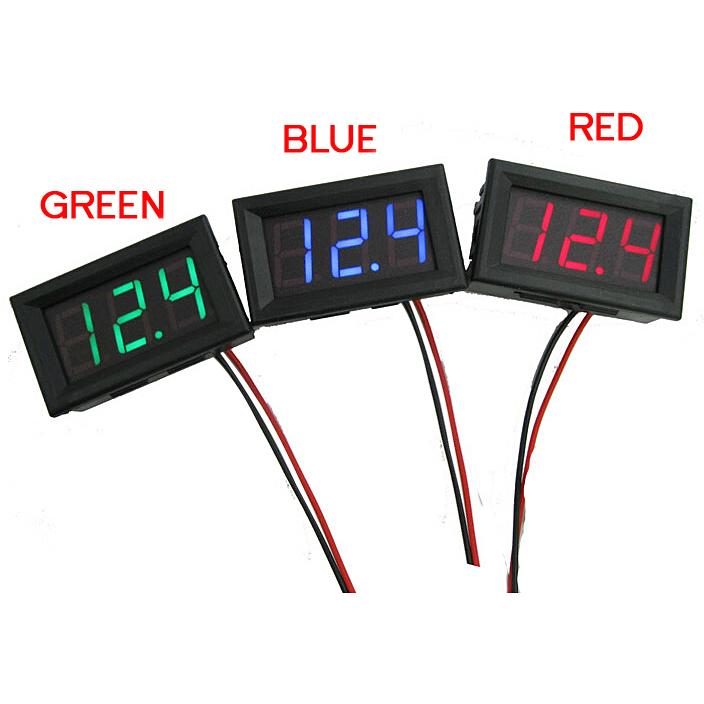 Mini 1 PCs New DC 0~30V LED Panel Voltage Meter Digital LED Display Voltmeter Motorcycle Car T1105(China (Mainland))