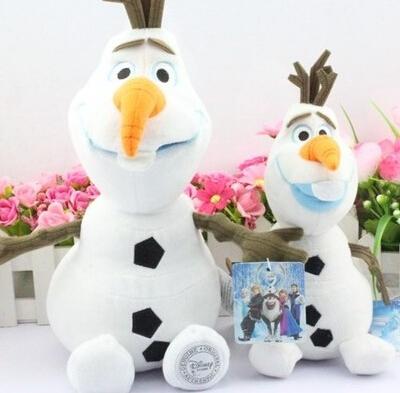 Disney Toys New Arrival 2015 Kids Toys Cute Cartoon Kawaii Olaf Frozen Plush Toys Girls Gift Stuffed Dolls 23/30 Cm Ty021(China (Mainland))