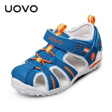 UOVO brand 2015 summer beach kids shoes closed toe sandals for boys and girls designer toddler sandals for 2 - 15 years old kids(China (Mainland))