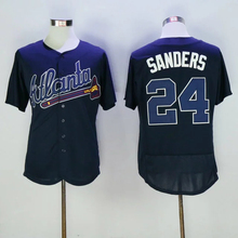 Mens 6 Bobby Cox 10 Chipper Jones 24 Deion Sanders Jerseys color white gray red blue green top quality(China (Mainland))