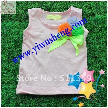 girl's pettitops fashion girl' t-shirts 2012 new design pettitops 30 pcs mix colors