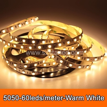 Free Shipping 5050 Warm White LED Strip Light Nonwaterproof