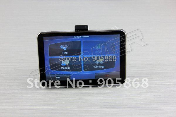 HD 800*480 5inch GPS Navigator  BT&AV IN 4GB DDR 128M load new 3D map
