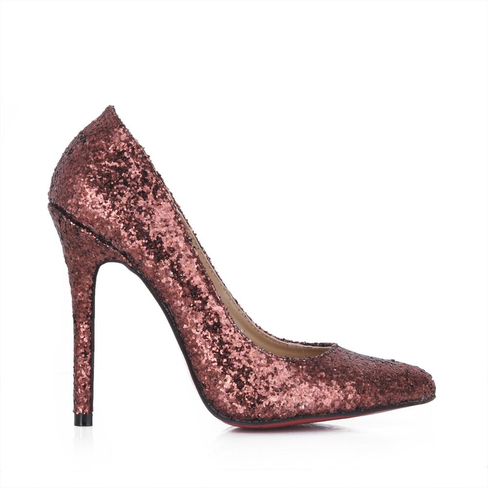 free shipping bling bling 12cm high heels coffe glitter