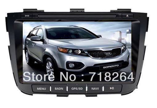 "Free Shipping!KIA Sorento 2013 Car DVD with can-bus box , 8"" Car DVD/GPS system with Analog TV Radio RDS Bluetooth USB iPod"