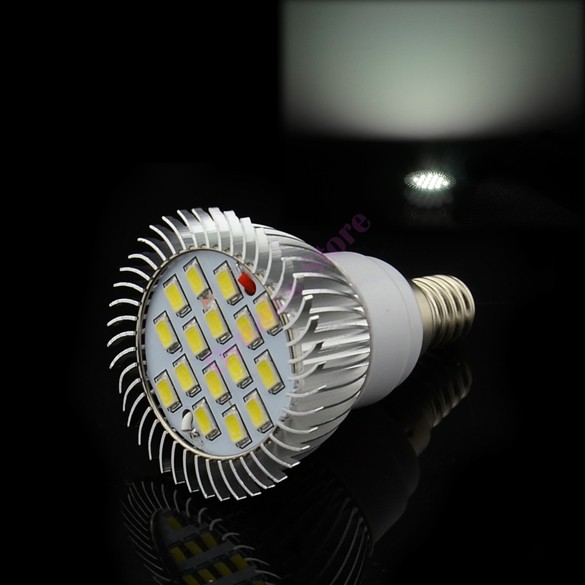 High Power 16 LED 85V-265V/6.4W E14 SMD5630 Cold White Spot Light Lamp Bulb (China (Mainland))