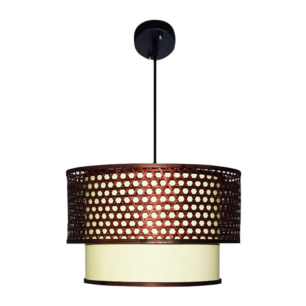 luxury art decorative pendant light bamboo pvc lampshade