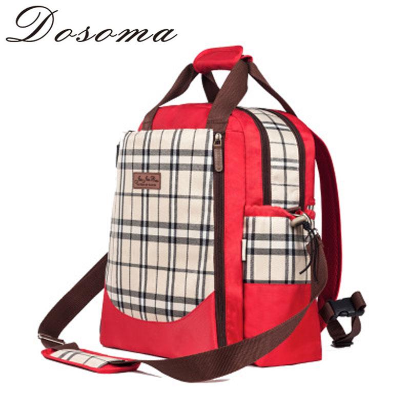 Mummy Nappy Bag Maternidade Diaper Backpack Fashion Plaid Maternity Handbag Travel Women Messenger Bag With Big Capacity<br><br>Aliexpress