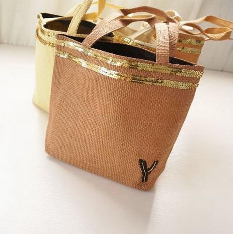 2016 Exclusive Sequins StrawTote Bag Woven Sea Summer Beach Bag Fashion Travelling Shopping Bag Lady Handbag Stripe Shoulder Bag(China (Mainland))