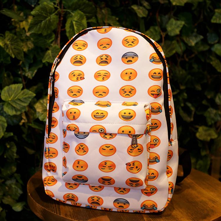 product Baru 2015 kualitas tinggi Emoji ransel Tersenyum ransel sekolah Mochila pria/wanita ransel untuk remaja perempuan backpack