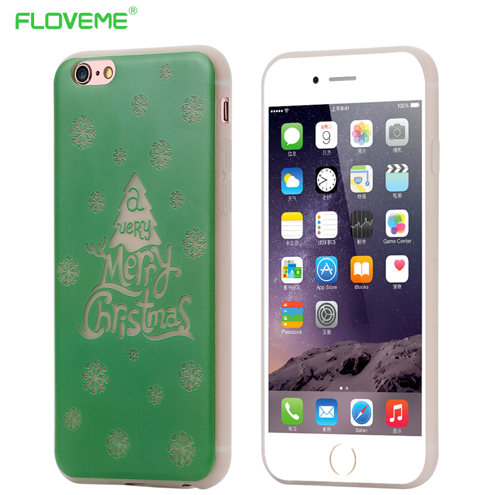 """FLOVEME i7 6 6S 4.7"""" Cute Art Print Merry Christmas Case For iPhone 7 6 6S Funny Luminous in Dark Shockproof Back Protect Cover(China (Mainland))"""